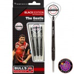 Stahl Dartpfeil Set - Bull's Mensur Suljovic Black-Edition Steeldarts 90% Tungsten