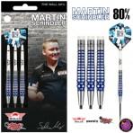Steel Dartpfeil Set Bulls - Martin Schindler 80% PCT Blue