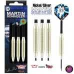 Steel Dartpfeil Set Bulls - Martin Schindler Nickel Silver