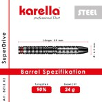 Steel Dartpfeil Karella - SuperDrive