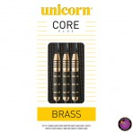 Steel Dartpfeil Set - Unicorn Core Plus Brass