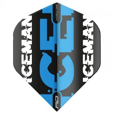 "Red Dragon Standard Hardcore Flight - Gerwyn Price ""Iceman"" Black&Blue Logo"