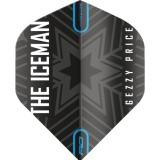 "Red Dragon Standard Hardcore Flight - Gerwyn Price ""Iceman"" Black&Grey Snowflake Logo"