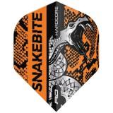 Red Dragon Standard Flight - Peter Wright Snakebite Coiled Snake Orange