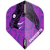 Red Dragon Standard Flight - Peter Wright Snakebite Ionic Snake Head Purple