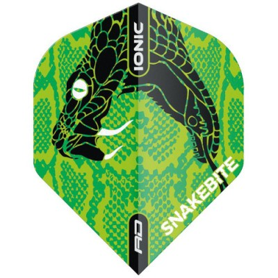 Red Dragon Standard Flight - Peter Wright Snakebite Ionic Snake Head Green
