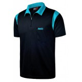 Dart Polo Shirt One80 - schwarz/blau