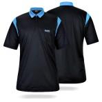 Dart Polo Shirt One80 - schwarz/blau