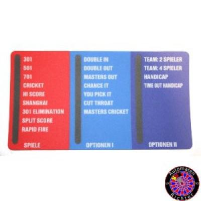 Aufkleber Spielwahlpanel HB8