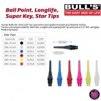 Soft Dartspitze Bulls Star Tips 2BA, 6mm dünn