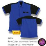 Dartshirt Bulls - Blau / Schwarz