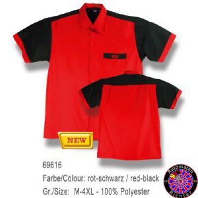 Dartshirt Bulls - Rot / Schwarz