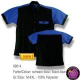 Dartshirt Bulls - Schwarz / Blau