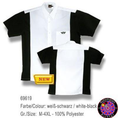 Dartshirt Bulls - Weiß / Schwarz