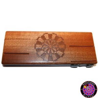 Darttasche aus Holz - Gravierbar - Mahagoni