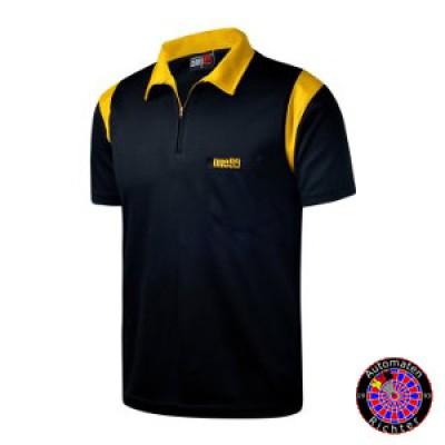 Dart Polo Shirt One80 - schwarz/gelb
