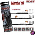 Stahl Darts Dartpfeil Set - Bulls Mamba `97 Slim-Shark Grip