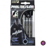 Steel Dartpfeil Set Target - Phil Taylor Power 8Zero Black Titanium