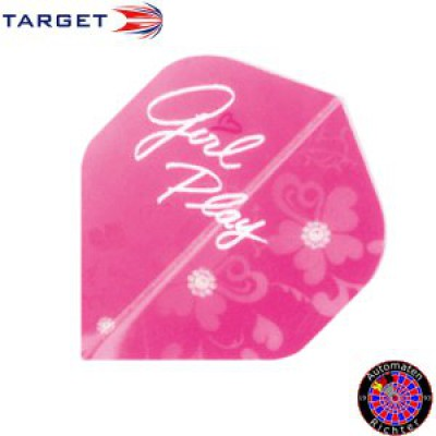 Target Pro 100 Standard Double Sided Design Girl Play - Rosa