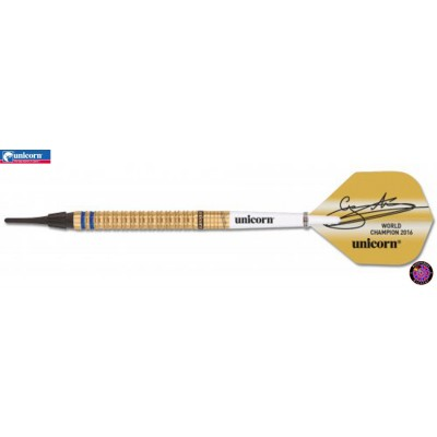 "Soft Dartpfeil Unicorn - World Champion Gary ""The Flying Scotsman"" Anderson Limited Gold Edition 2016"