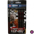 "Steel Dartpfeil Set - Winmau Mervyn ""The King"" King Silber"