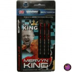"Soft Dartpfeil Set - Winmau Mervyn ""The King"" King Silber"