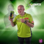Steel Dartpfeil Set - XQ Max Darts Messing Nickel Michael van Gerwen