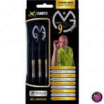 Steel Dartpfeil Set - XQ Max Michael van Gerwen 9 Majors/Career Slam Edition 90% Tungsten