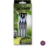 "Steel Dartpfeil Set - XQ Max Darts Michael van Gerwen ""Green Demolisher"" 70% Tungsten"