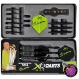Steel/Soft Dartpfeil Set - XQ Max Darts Messing Geschenkset  schwarz