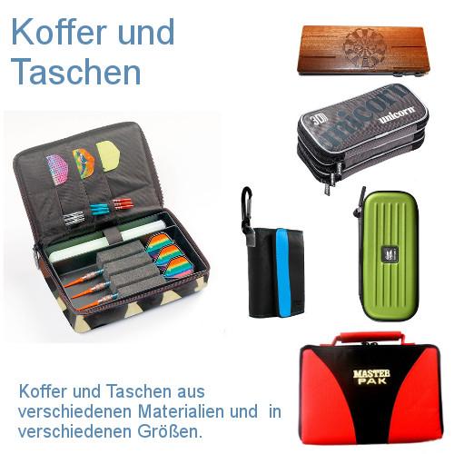 Koffer und Taschen aus verschiedenen Materialien und in verschiedenen Größen.