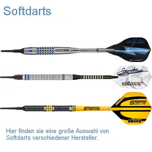 Hier finden Sie Softdarts verschiedener Hersteller.